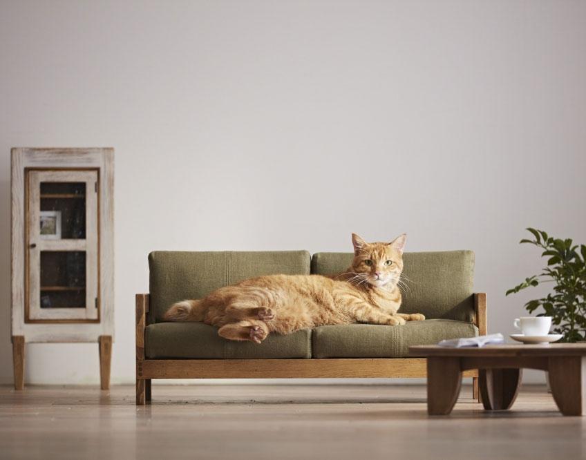 【42%】SANTA FE ソファ189 ネコ家具