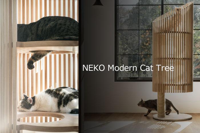 お値段100万円のキャットタワー!猫が透けて見える美しいデザイン!