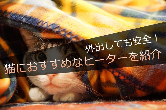 外出しても安全!猫におすすめなヒーター(暖房器具)を紹介!