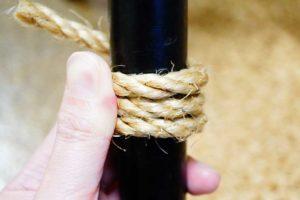 【結構簡単】自分で麻紐を巻いて対策する