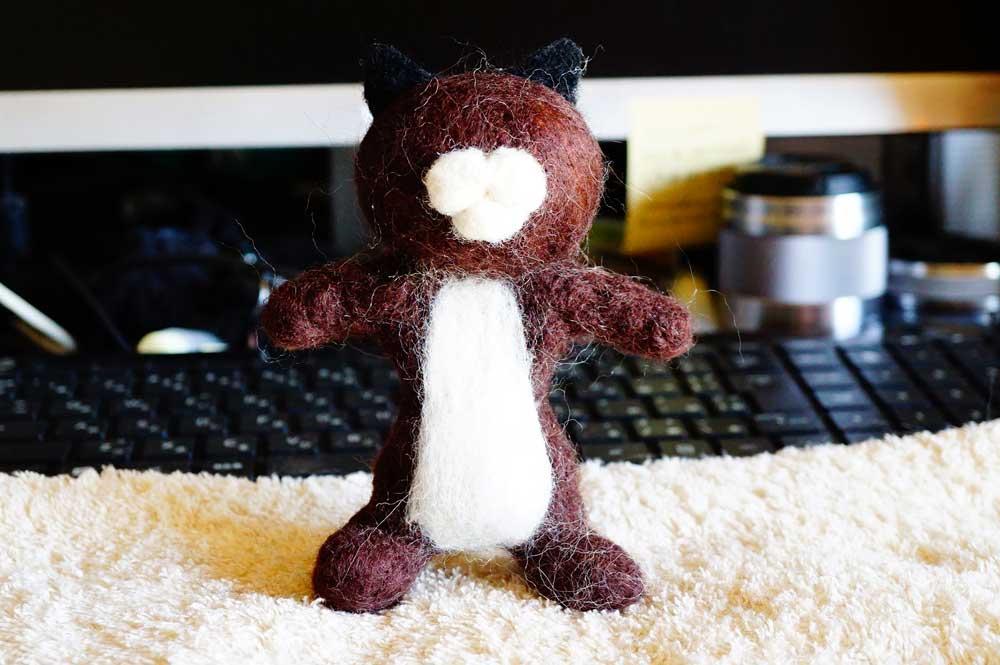 羊毛フェルト 猫 作り方
