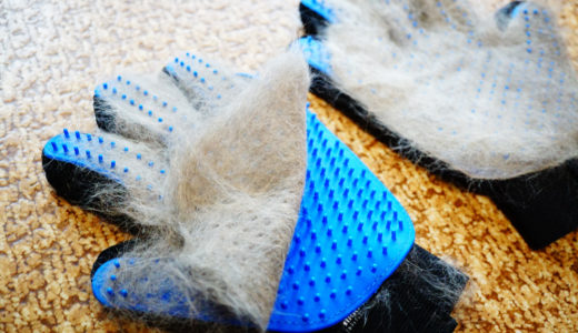 ブラッシング手袋で猫の毛がごっそり取れたレポ!デメリットも書いたよ。