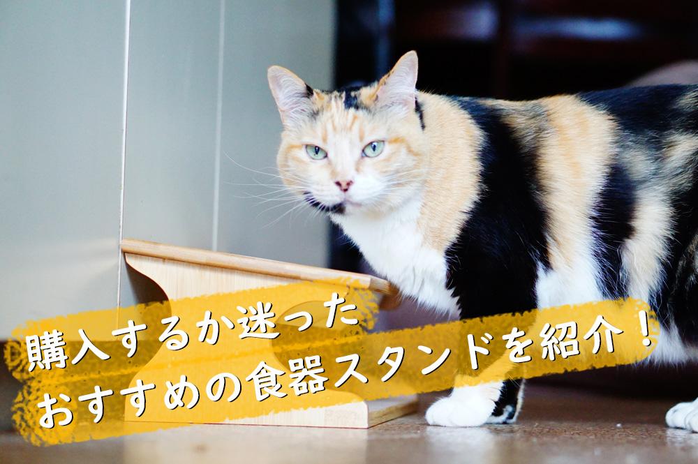 おすすめな猫の食器スタンド