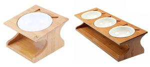 猫 食器 スタンド 木 猫型