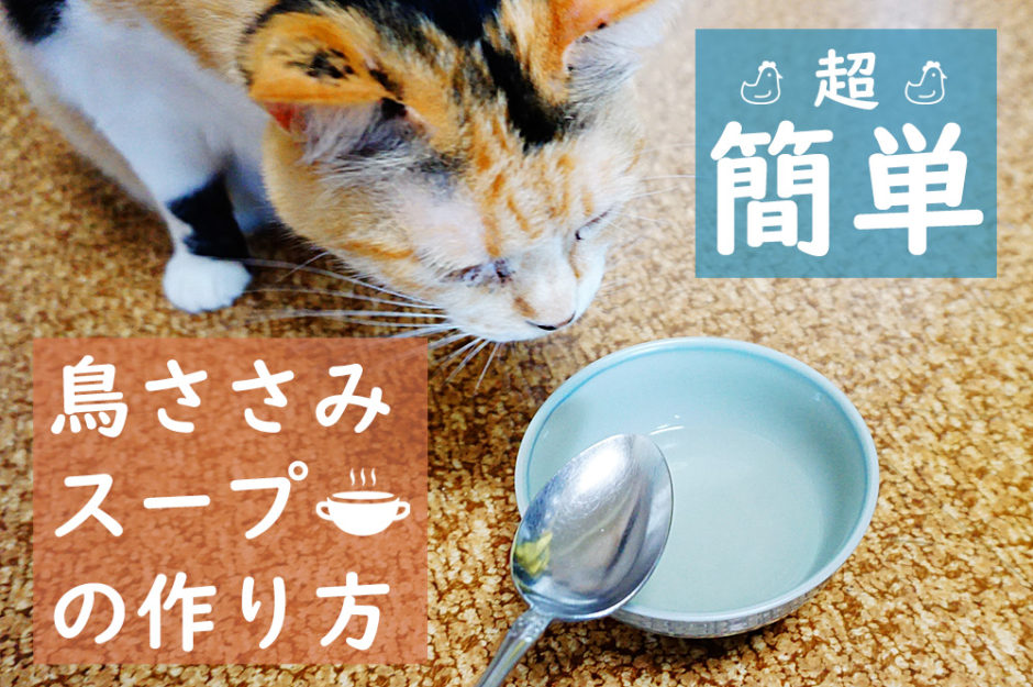 猫ちゃんに作る鳥ささみスープは超簡単!水分補給できて健康にいいよ!