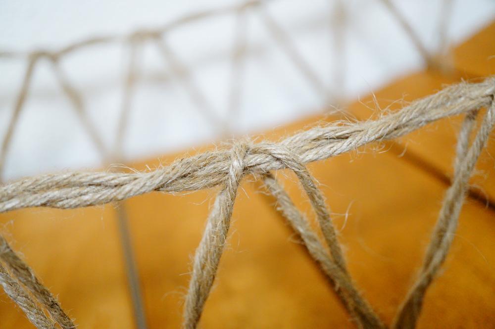 猫 吊り橋 麻紐の通し方