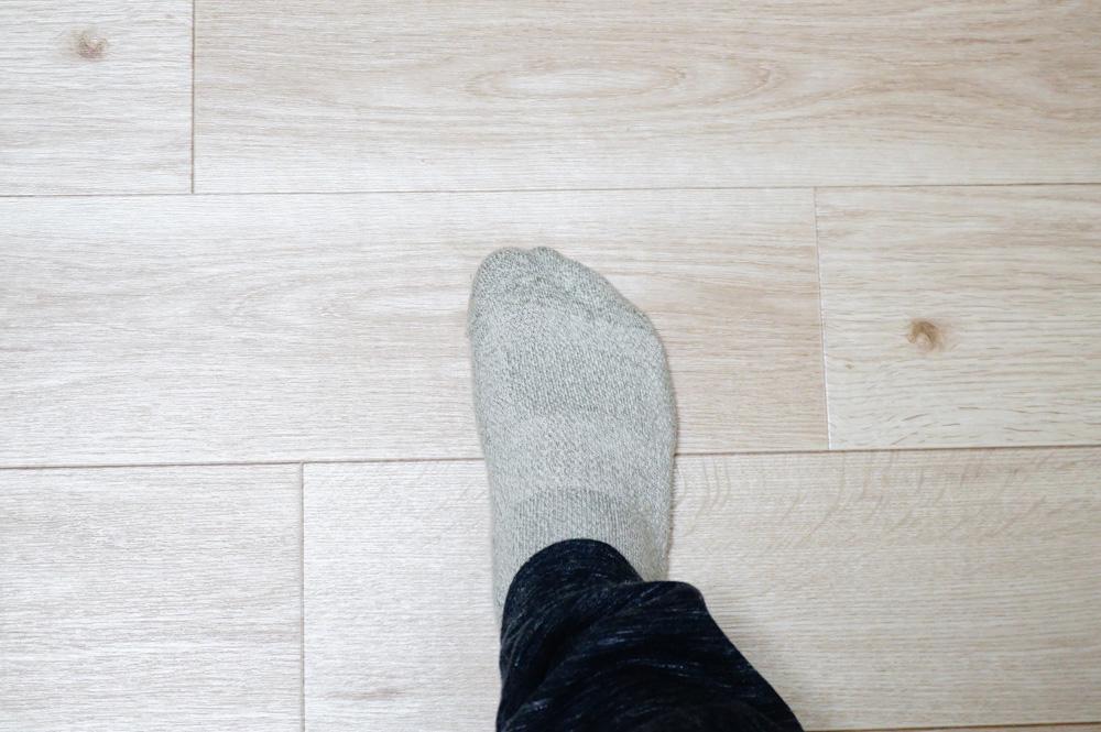 床が凹んでいる所にクッションフロアを貼った場合