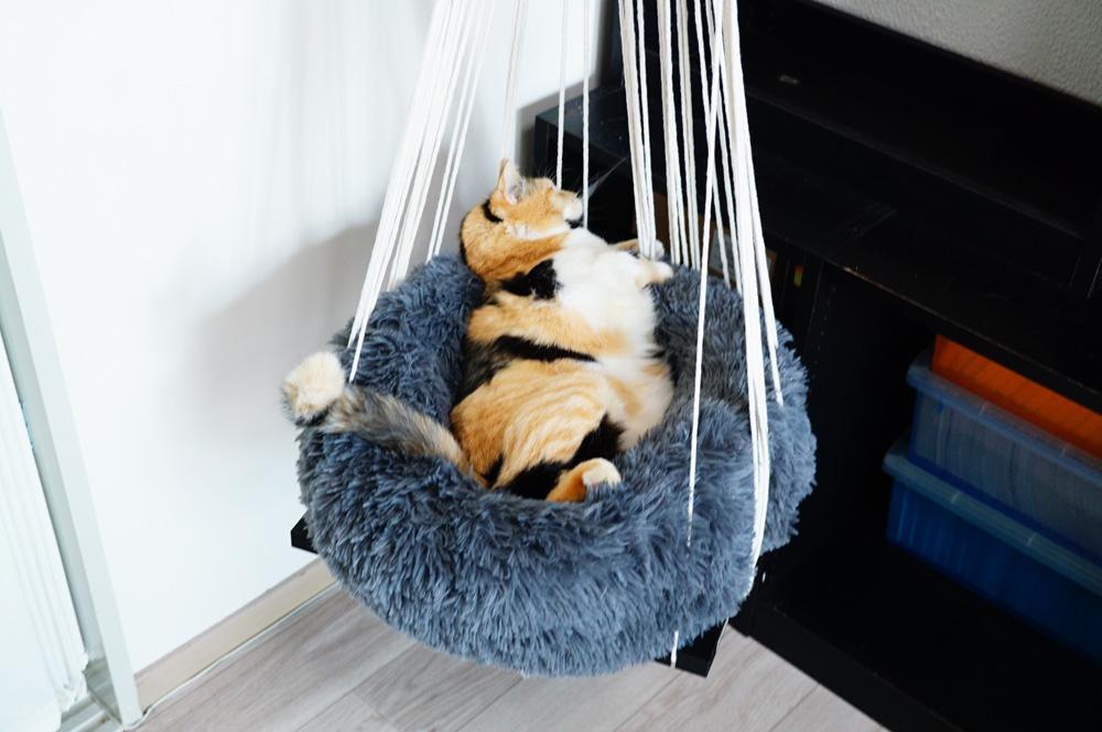 猫用ハンモック 安定させる