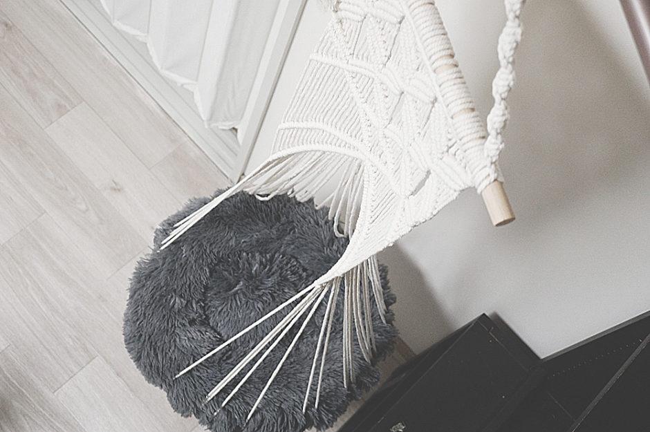 手編みがオシャレな「猫用ハンモック」を買ってみた!(吊り下げタイプ)