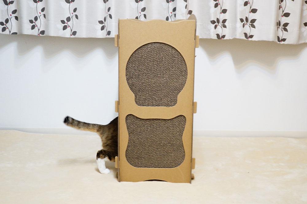 【raku】の猫用爪とぎキャットハウス 両サイド