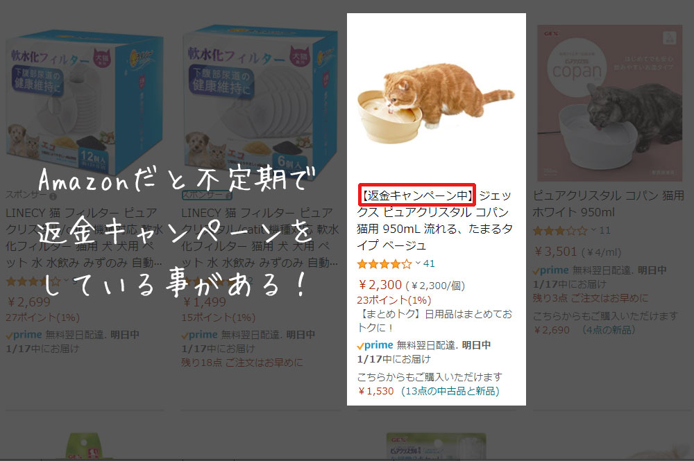 ピュアクリスタル コパン お得キャンペーン