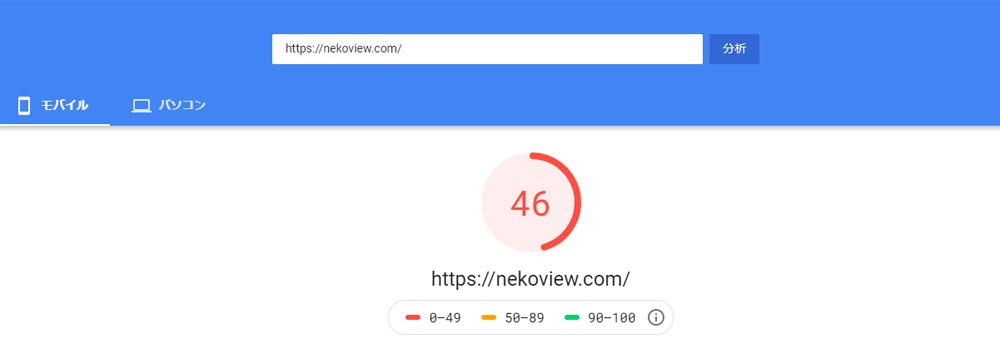 グーグルの「PageSpeed Insights」