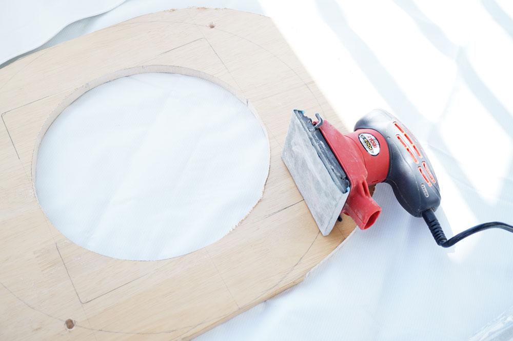 宇宙船(クリアボウル)猫ベッドの作り方 サンダでヤスる
