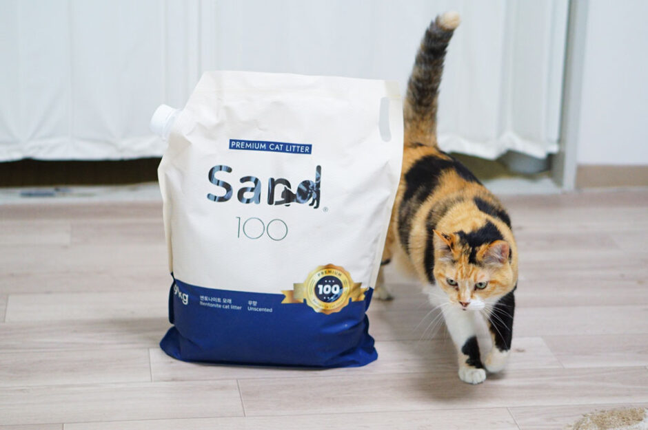 【超高級】3つの特徴を持つプレミアム猫砂「Sand100」をレビュー!